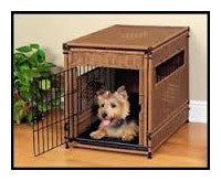 Simpson Ventures Wicker Dog Crate Furniture