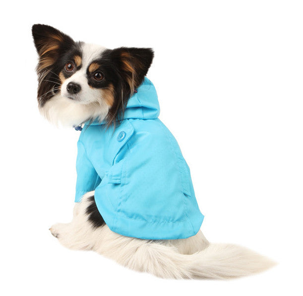 Slicker Dog Raincoat by Pinkaholic in Blue