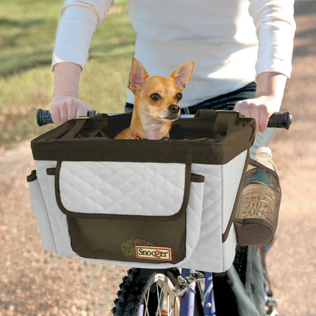 Snoozer Pet Bicycle Basket Carrier for Biking