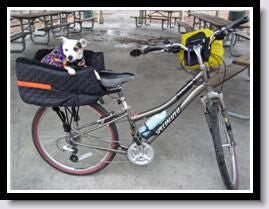 Snoozer Lookout Dog Bike Carrier -Bicycle Basket for Rear
