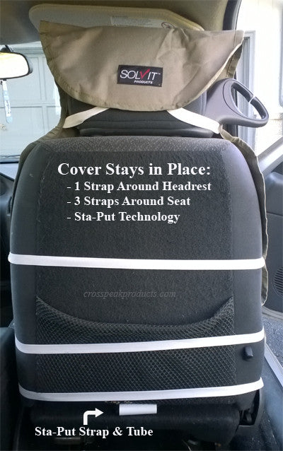 sta-put technology on the bucket seat cover