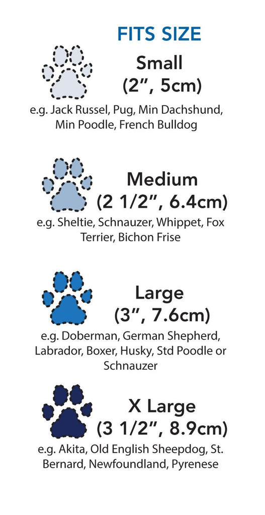 Ultimate Trail Dog Boots Measurement Chart