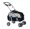 Black PetZip 3 in 1 Versatile Dog Stroller, Pet Carrier & Car Seat