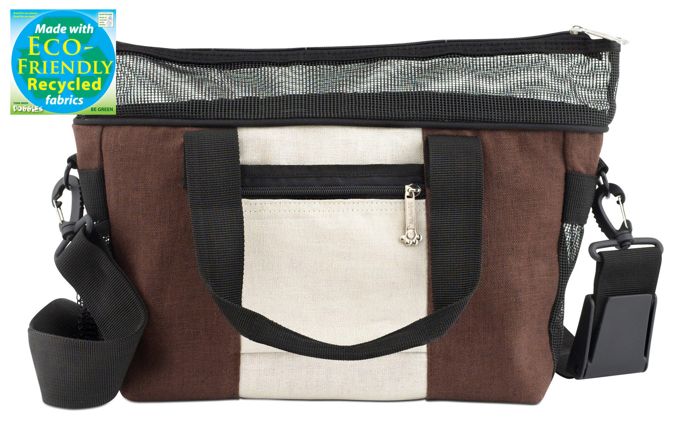 Doggles Eco-Friendly Hemp Messenger Dog Bag