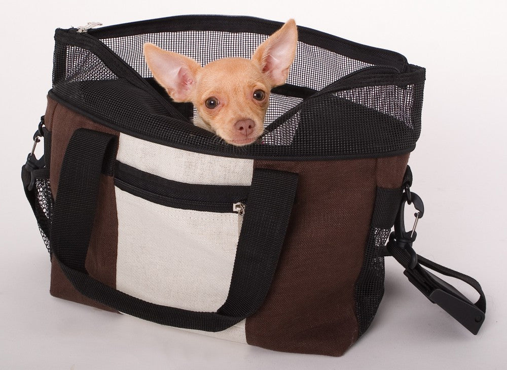 Doggles Hemp Messenger Bag for Small Dogs