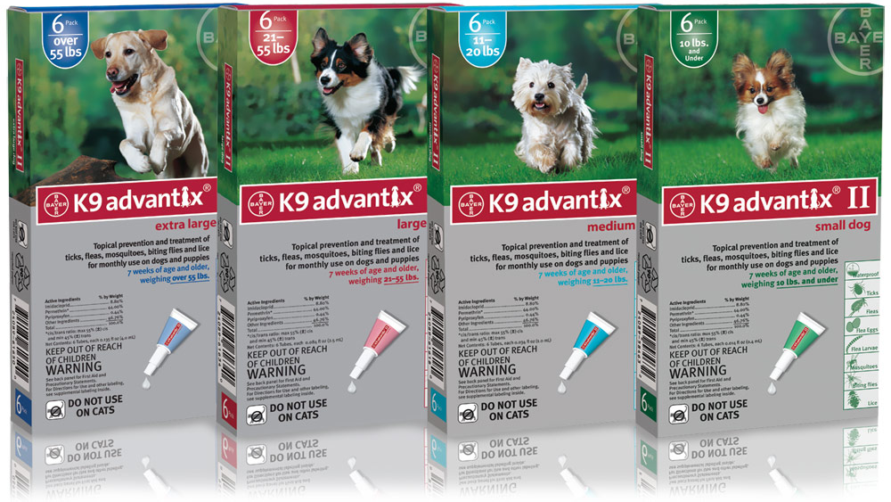 Bayer K9 Advantix II Flea & Tick Dog Medicine