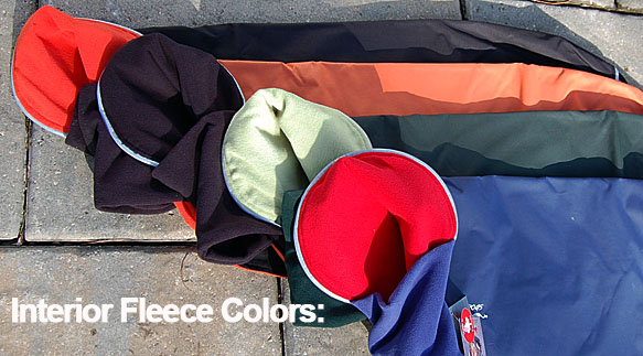 Interior Fleece Coat Color Options for Dogs