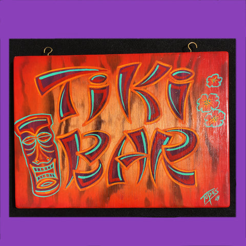 TIKI BAR Patio Sign