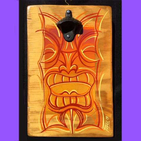 ORANGE TIKI BOTTLE OPENER Sign