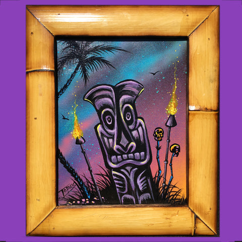 PURPLE TIKI N TORHES Painting