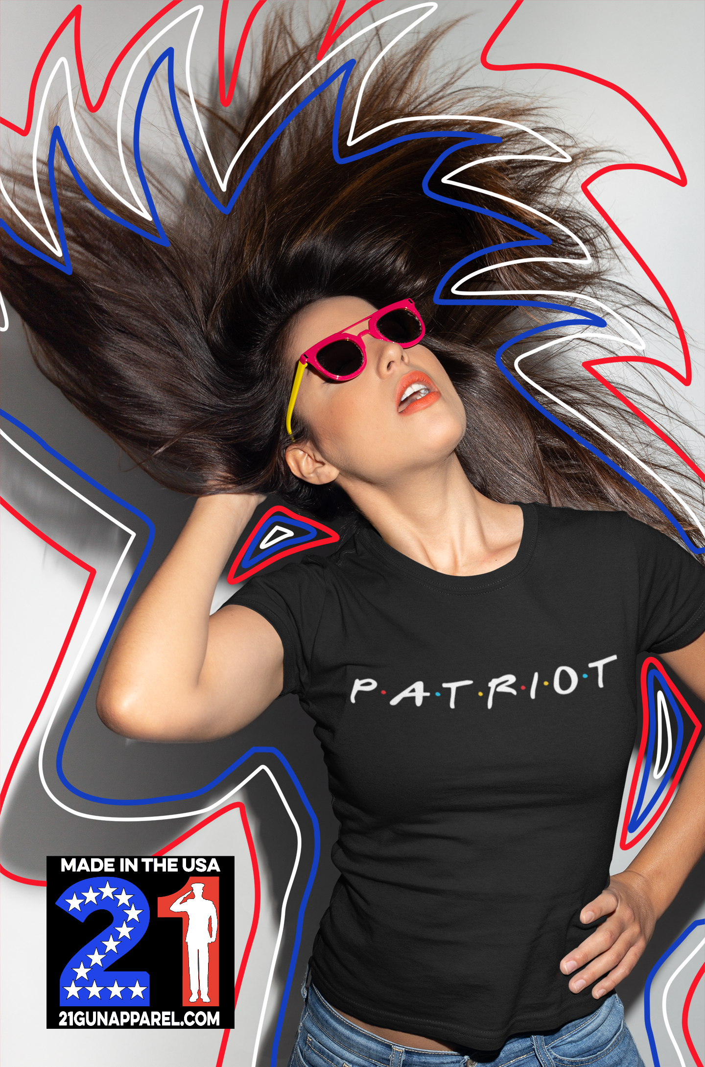 The One With The Patriot T-shirt Ladies Crew Neck