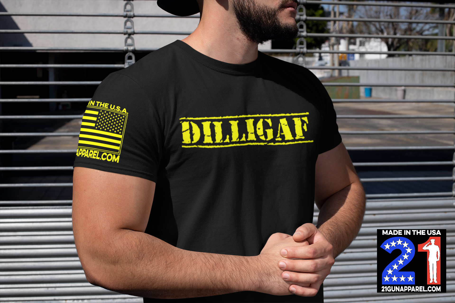 DILLIGAF : Do I Look Like I Give A F#@K Unisex Short Sleeve Crew Neck Tee