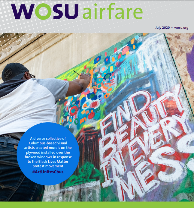 Brenden Spivey Cover - WOSU Airfare July Cover