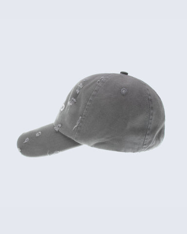 DISTRESSED STRAP BACK- OLIVE