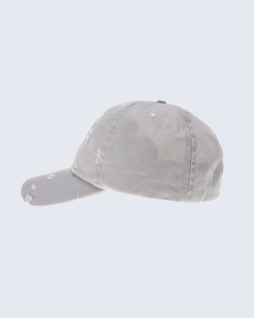 DISTRESSED STRAP BACK- STONE