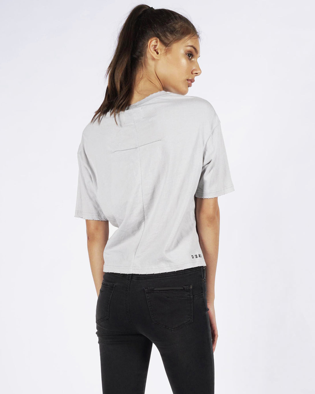 CHLOE POCKET TEE CROP - STONE