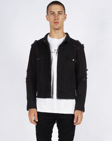 BLACKOUT DENIM JACKET