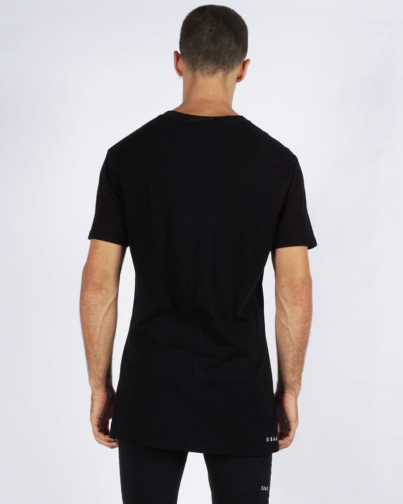 DROPPED TEE - BLACK