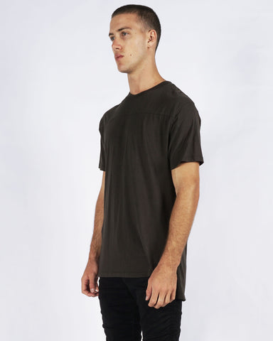 DROPPED TEE - DARK OLIVE
