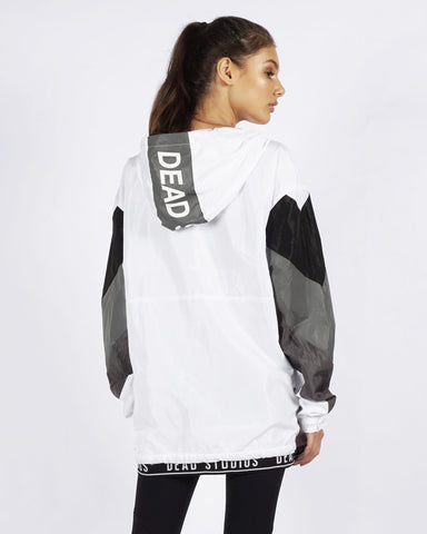 PRE ORDER - TRI COLOUR RUNNER JACKET - WHITE/BLACK