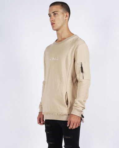 WARFARE SWEATER BEIGE