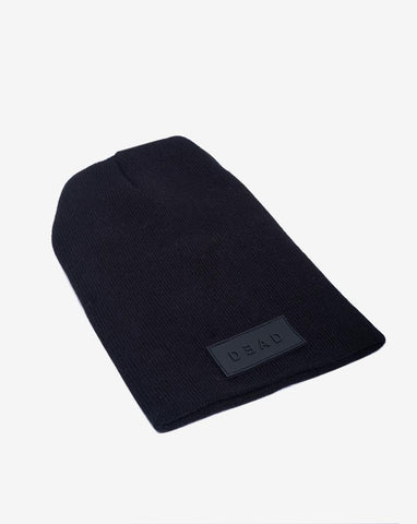 DEAD LONG BEANIE- BLACK