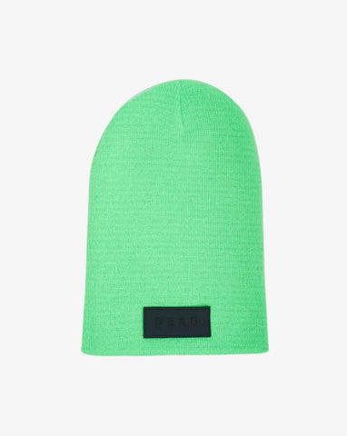DEAD LONG BEANIE- NEON GREEN