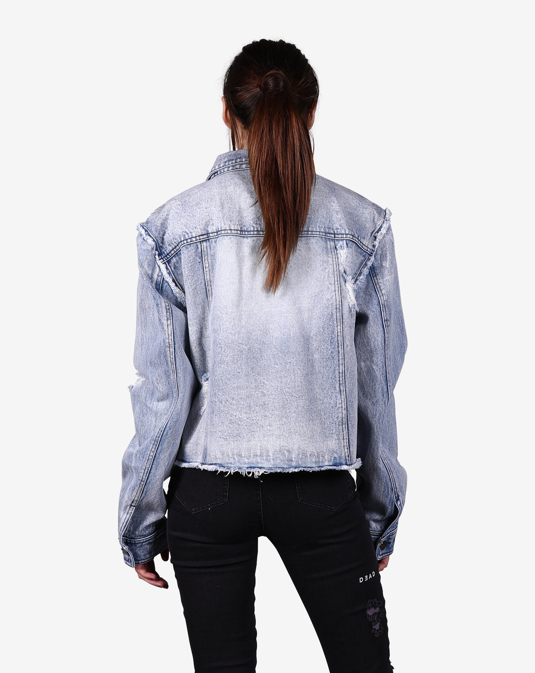 RELIC CUT OFF DENIM JACKET