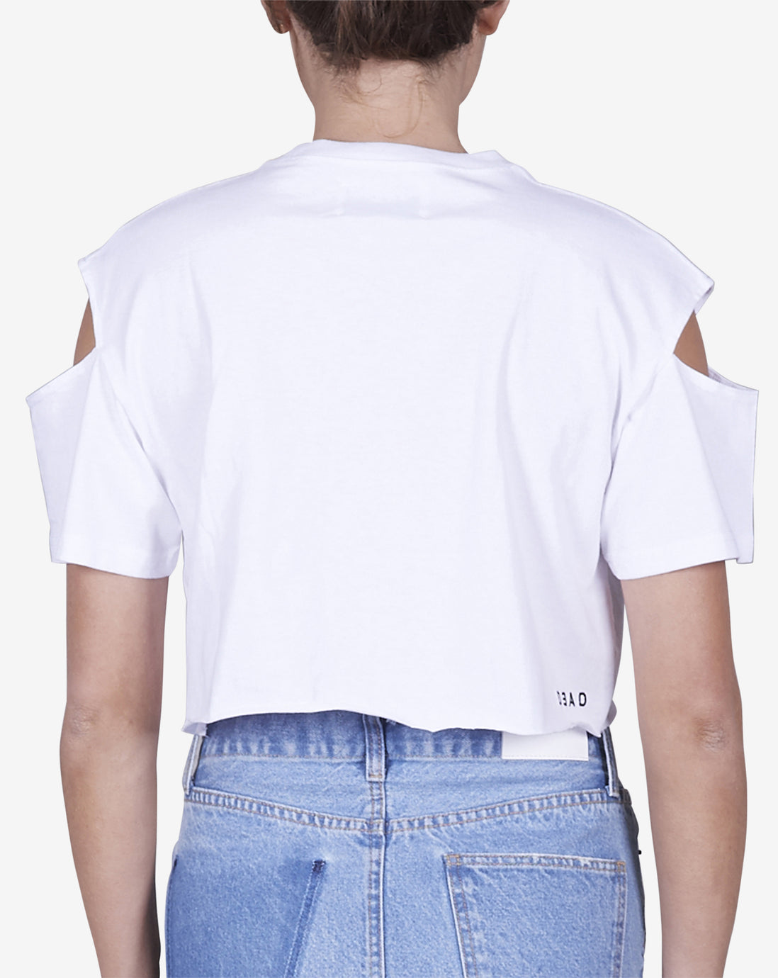 SPLIT SLEEVE TEE - WHITE