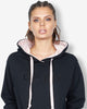 CONTRAST TEAM HOOD - BLACK