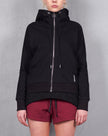 PANELLED LINKS HOODIE - BLACK