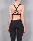 MULTI STRAP CROP BRA - BLACK