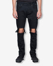 PRE-SALE: 003 BURN OUT JEAN - JET BLACK
