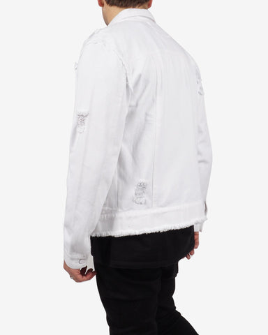 WHITE OUT DENIM JACKET