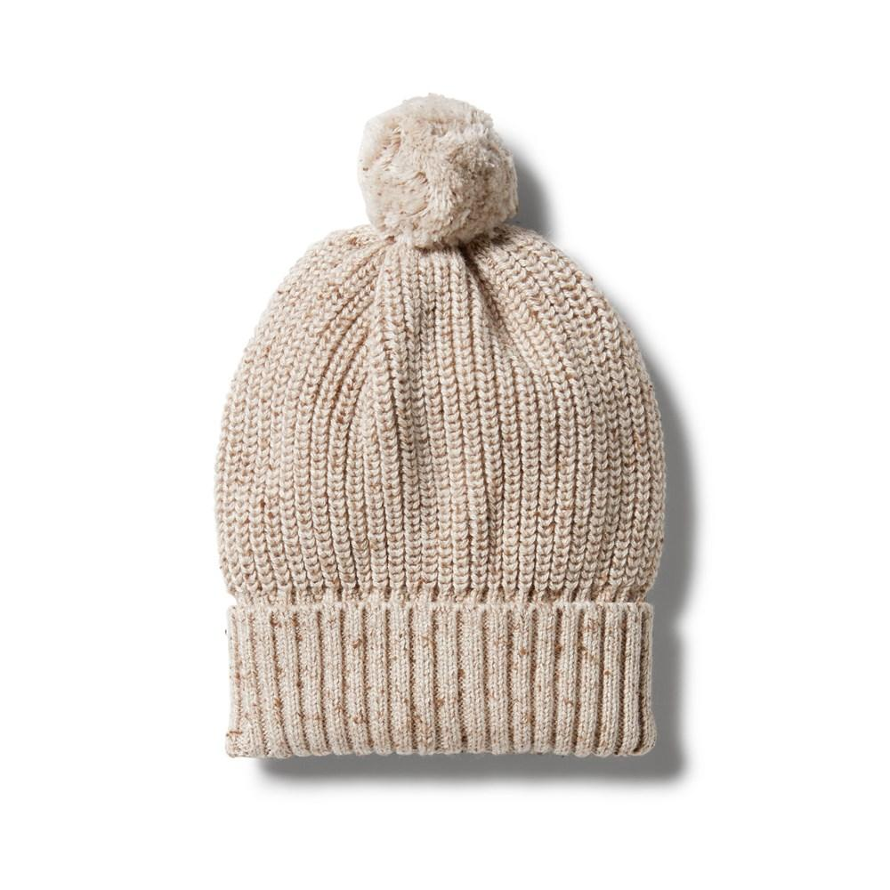 Knitted Hat - Oatmeal Fleck