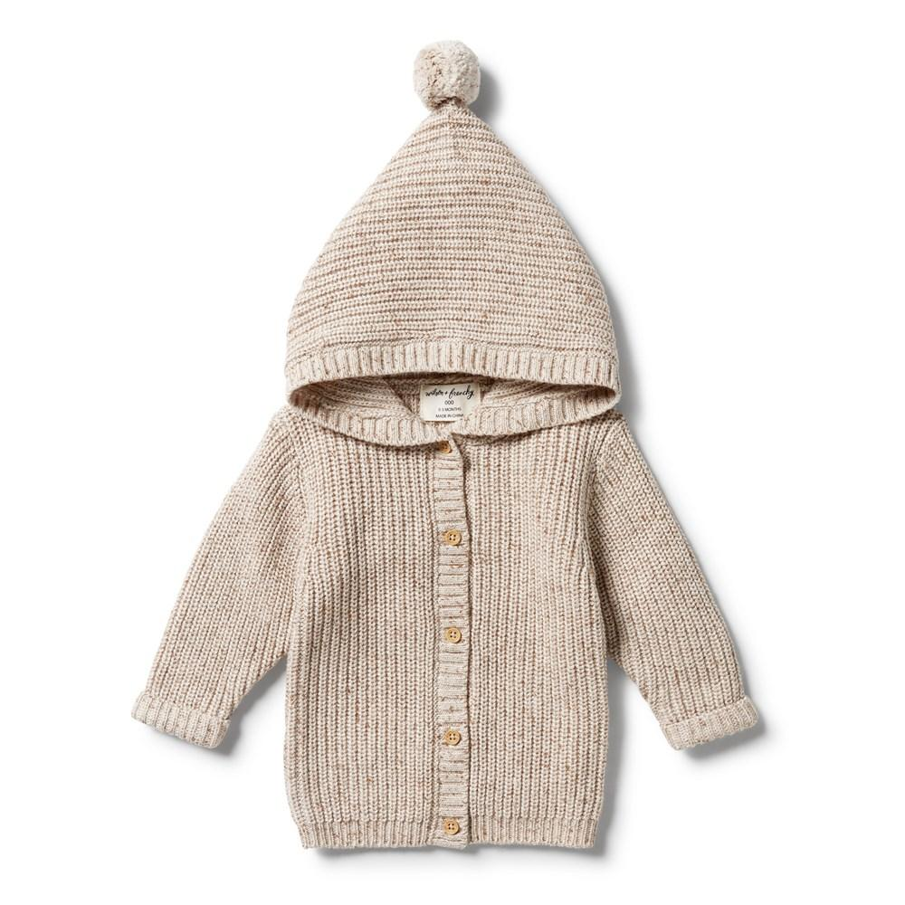 Knitted Jacket - Oatmeal Fleck