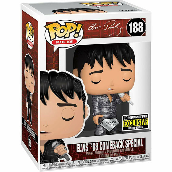 Elvis Presley 1968 Comeback Special Diamond Glitter Pop! Vinyl Figure - Entertainment Earth Exclusive - Gamer's Town