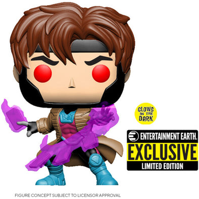 X-Men Gambit Glow-in-the Dark Pop! Vinyl Figure - EE Exclusive - Gamer's Town