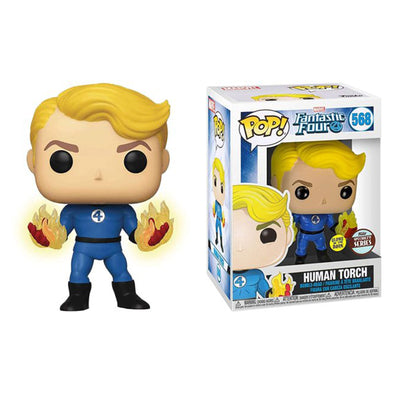 Fantastic Four Human Torch Suited Pop! Vinyl Figure - Specialty Series - Gamer's Town