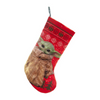 Star Wars: The Mandalorian The Child 19-Inch Red Stocking with Cuff - Gamer's Town