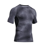 Outdoor Sports Camping Hiking Serpentine T-shirt Tactical Short Sleeve T-shirt Men Quick-drying Sweat Fitness Tights