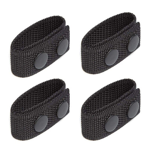 4Pcs/Set Tactical Belt Buckle Police Military Accessory Double Snaps Nylon Tactical Belt Loop Holder Keeper