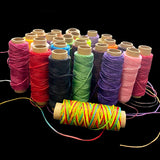 MIUSIE 1Pcs 50M 150D 1mm Leather Waxed Thread Cord for DIY Handicraft Tool Hand Stitching Thread Flat Waxed Sewing Line