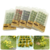 Wargame Grass Tufts Building Layout Sand Table Flower Cluster DIY Miniature Garden Decor Durable Static Scenery Model Landscape