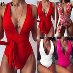 Catei Karrui 2020 women's swimsuit strap One Piece Bikini one piece swimsuit sexy bikini swimming pool party essential new