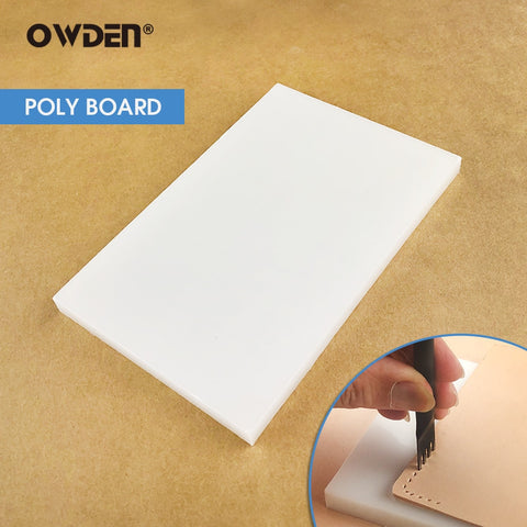 OWDEN Poly Cutting Board White Cutting Mat High quality leather craft tool for cut punch