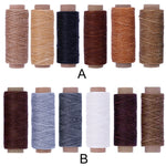 6 Rolls/bag Sewing Waxed Thread Leather DIY Line 150D 180M Wax String Cord Sewing Craft Tool Portable Waxed Thread Cord