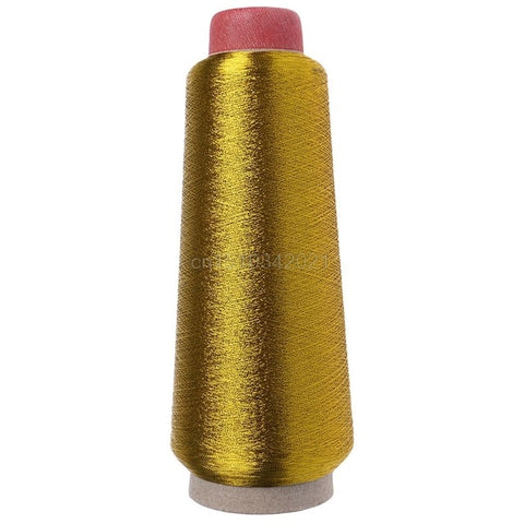 1PC Sewing Machine Cone Threads Polyester Overlocking All Purpose Golden Silver