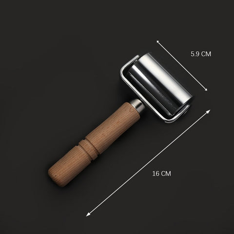 WUTA 26/59mm Press Edge Roller Leather craft Glue Laminating Tool Leather Edge Creaser & Smoother Steel Iron Roller DIY Handmade