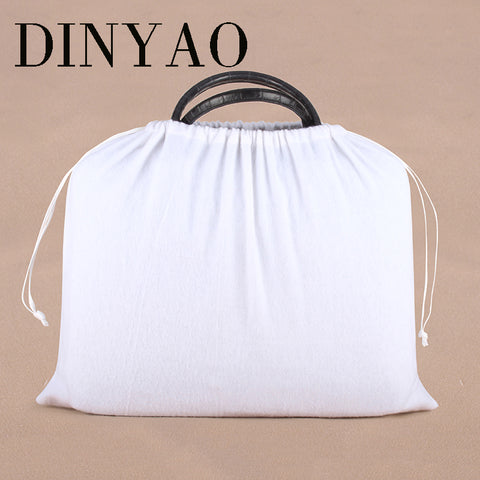 1pcs/lot 45*49cm High Quality Cotton Pouch Logo Printed Drawstring White Gift Bags Clothing Bags' Dust-proof Packaging Bags